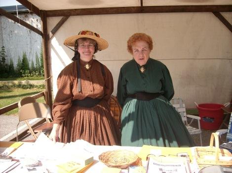 ladies in Civil War reenactment