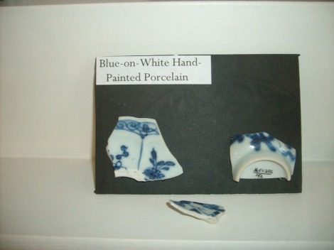 Blue on white porcelain